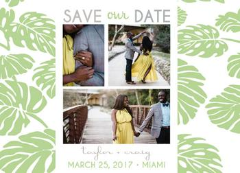 Tropical Leaf Save the Date