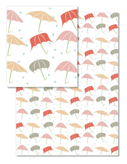 design - Umbrellas in the rain by Chi