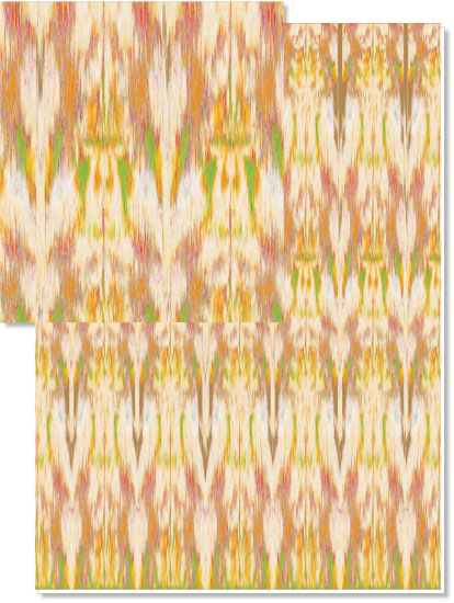 design - Canteloupe Ikat by Melanie Millar