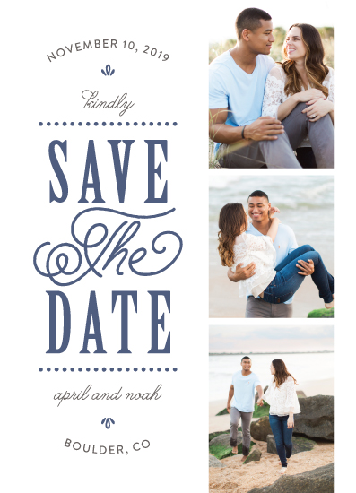 save the date cards - Modern Romance by Nicole Barreto