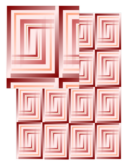 design - Faded Rectangles by Patterned Pomegranate