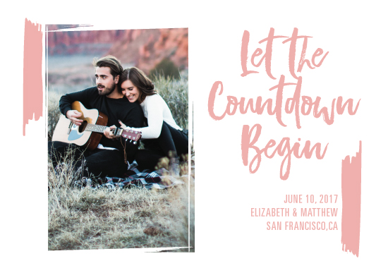 save the date cards - Let the Countdown Begin by Teresa Daniel