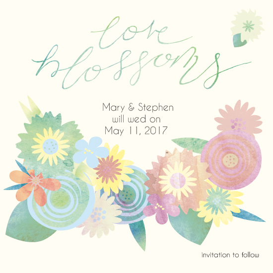 save the date cards - Love Blossoms by Harmony Cornwell