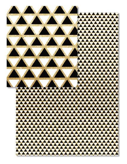 design - Glittering triangles by AnaP Studio