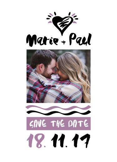 save the date cards - Herat by Marina Onoprienko