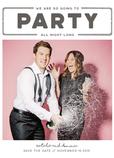 save the date cards - Party All Night by Nicolette Myslinski
