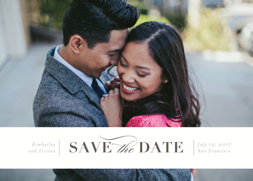 save the date cards - Eternally yours by Seven Swans