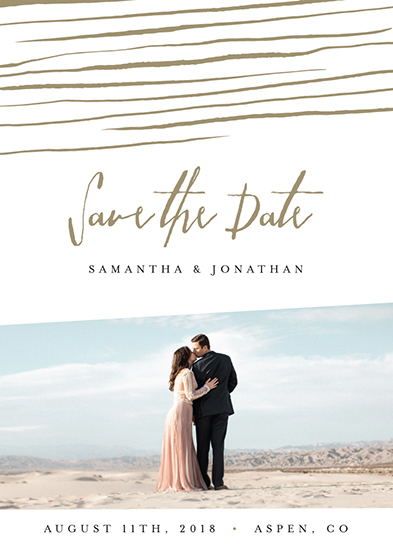 save the date cards - Love Lines by Belia Simm
