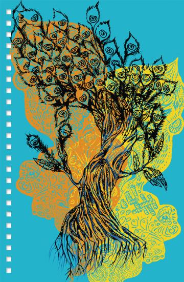 design - Peacock Feather Tree by Natasha Price