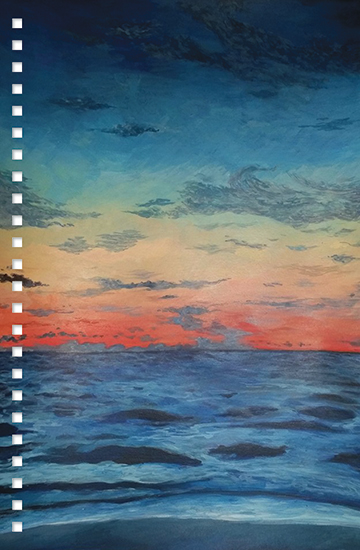 design - Sunset on the Ocean by Natasha Price