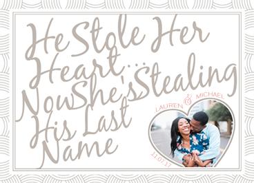 save the date cards - Stolen Heart by Christy Platt