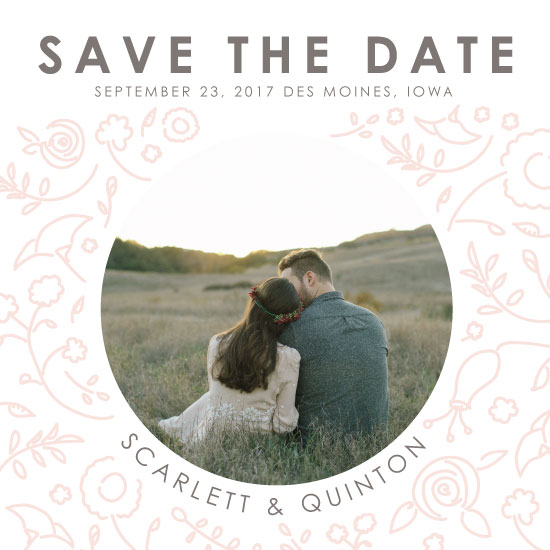 save the date cards - Blooming Love by Emily Stumpf