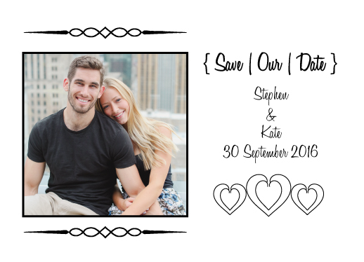 save the date cards - Simple Heart by LindaM