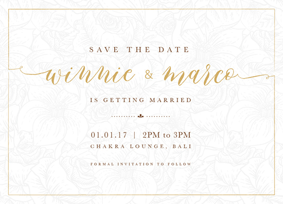 save the date cards - Golden Date by Adeline Winata