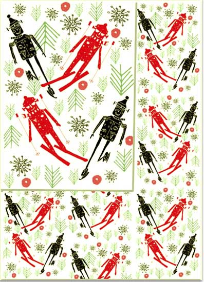 design - Winter Snowbots by marcia biasiello