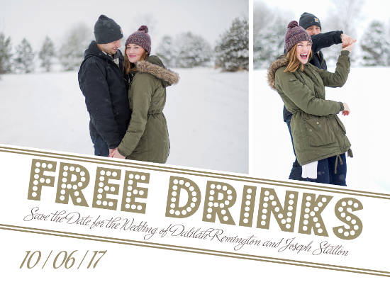 save the date cards - Free Drinks by Christy Platt