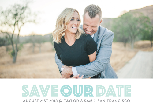 save the date cards - accentuated by Kimberly Chow