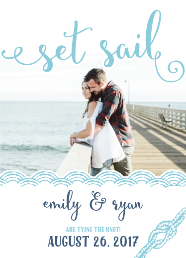 save the date cards - Set Sail by Gila.be