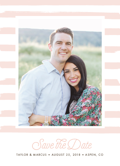 save the date cards - Candy Striped by Shirley Lin Schneider