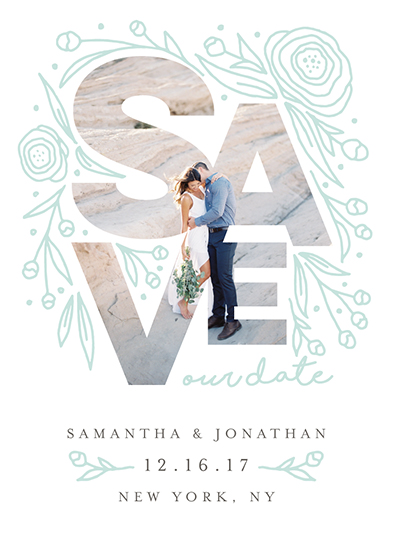 save the date cards - Save Our Date Florals by Belia Simm
