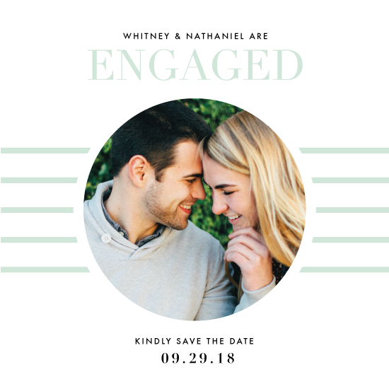 save the date cards - Editorial Engagement by Dana Beckwith