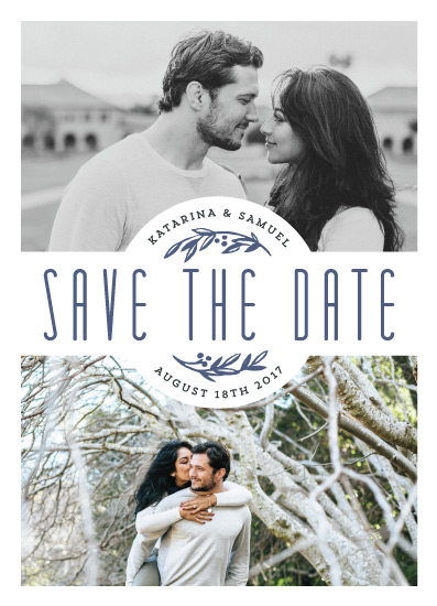 save the date cards - Badge by Rebecca Daublin