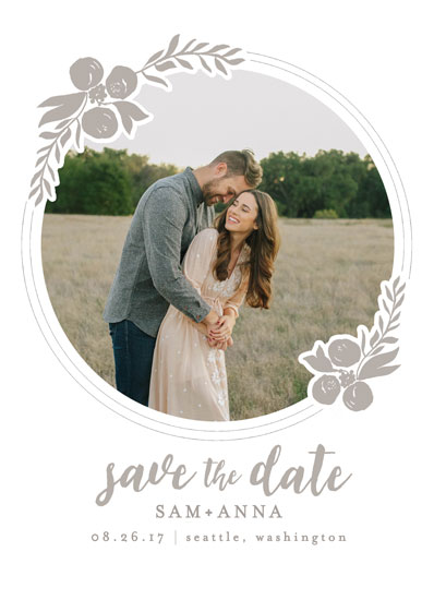 save the date cards - Pressed Posy by AK Graphics