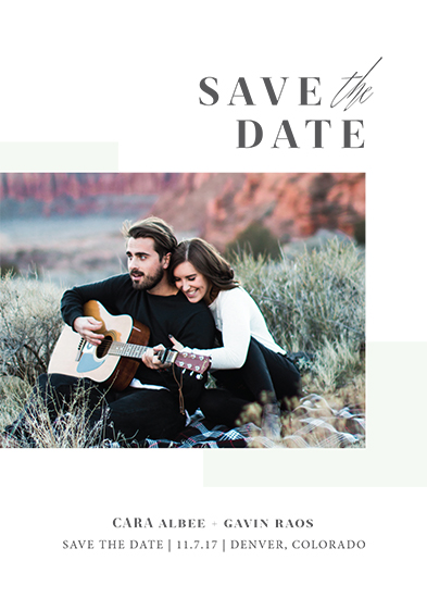 save the date cards - love me do by Jula Paper Co.
