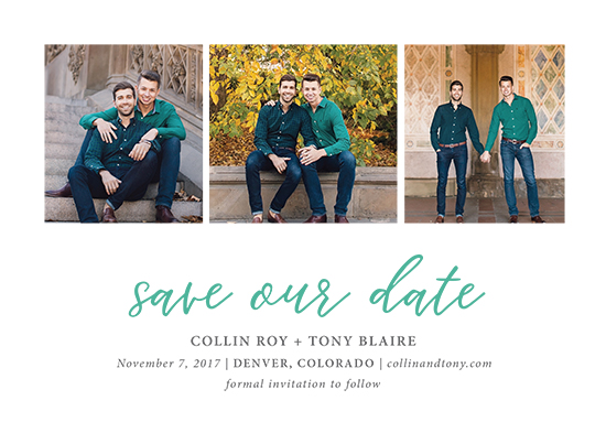 save the date cards - charmed by Jula Paper Co.