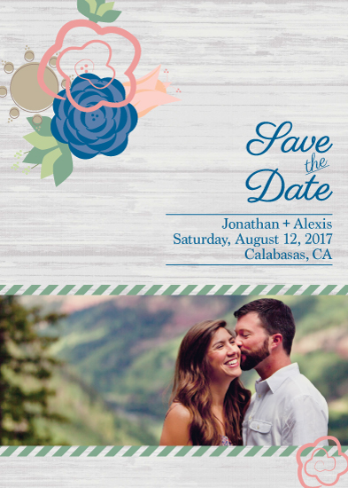save the date cards - Rustic Save the Date by Michelle Scobell