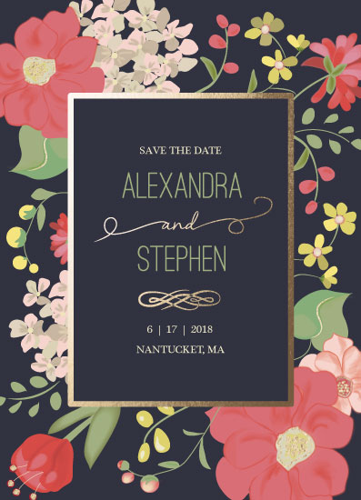 save the date cards - Botanical Romance by Jill