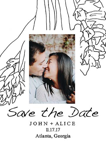 save the date cards - Hyacinth Save the Date Card by Emily Livingston