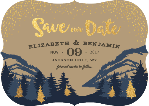 save the date cards - Mountain High by Elephont Designs