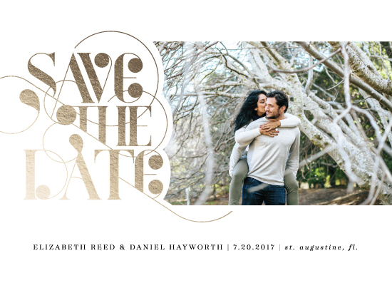save the date cards - Title Card by Ashley Hegarty