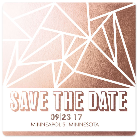 save the date cards - Geometric Rose by Melanie Winters