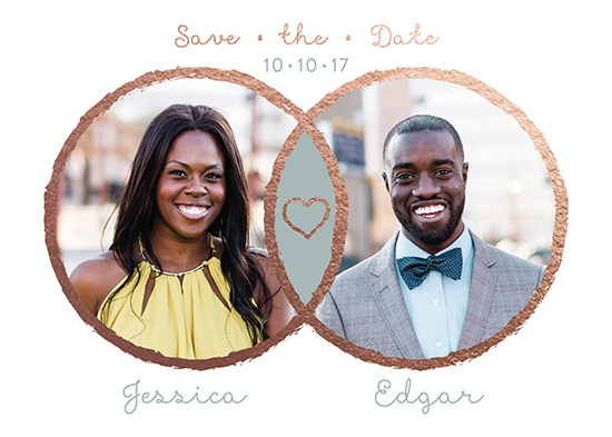save the date cards - Contemporary Venn Diagram by Natasha Price