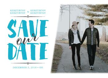 save the date + photo