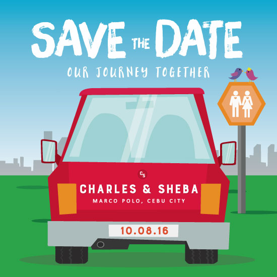 save the date cards - The Journey by Charles Denz Zafra