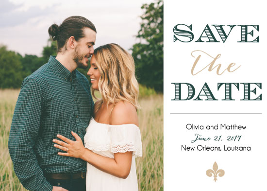 save the date cards - The Big Easy by Texas Girls