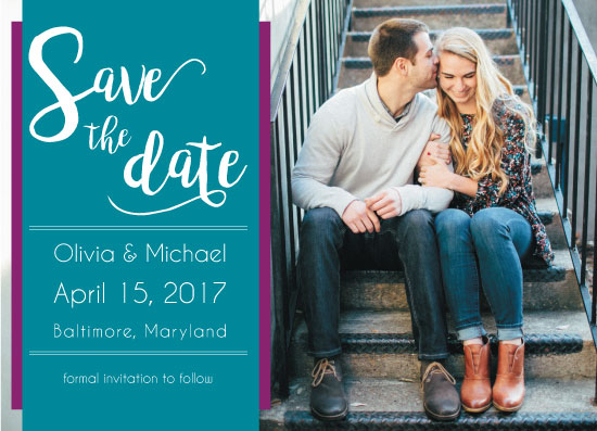 save the date cards - Simply Bold Save the Date by Kristen DeMarco Rickard