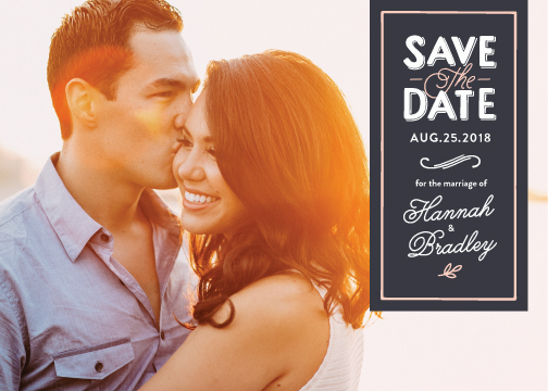 save the date cards - tailored banner by Griffinbell Paper Co.