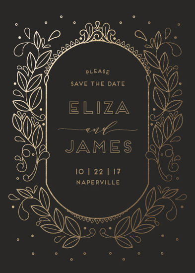 save the date cards - Golden Age by Lorent and Leif