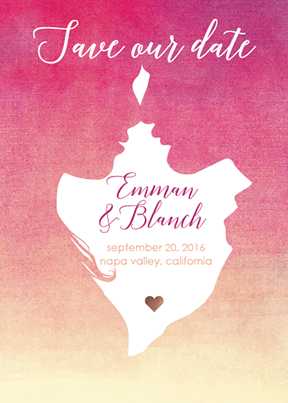 save the date cards - Blossom Love by John Emmanuel Salazar