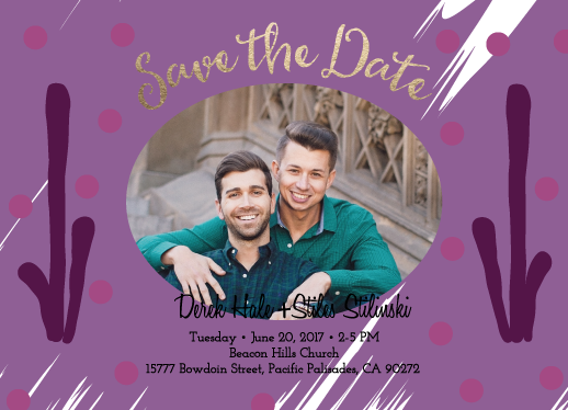 save the date cards - Happy ever after - xoxo by Arvidas