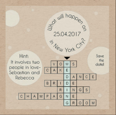 save the date cards - Crossword&bubbles by Sapojnic Silvia