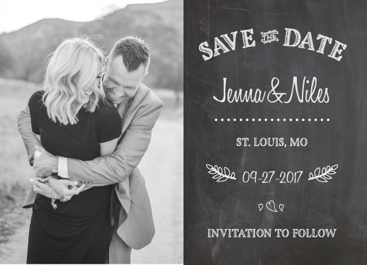 save the date cards - Chalked Up by ashnee eiram
