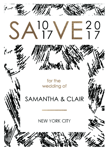 save the date cards - Friday Love by Sarah Hunt Rothenberg