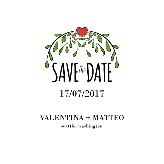 save the date cards - Amore by Sonia Petros