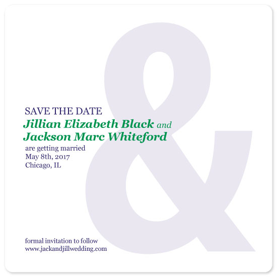 save the date cards - Ampersand Save the Date by Nicole C