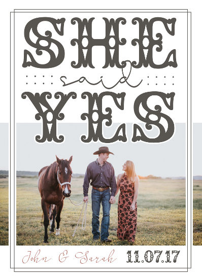 save the date cards - Country Road by Christy Platt